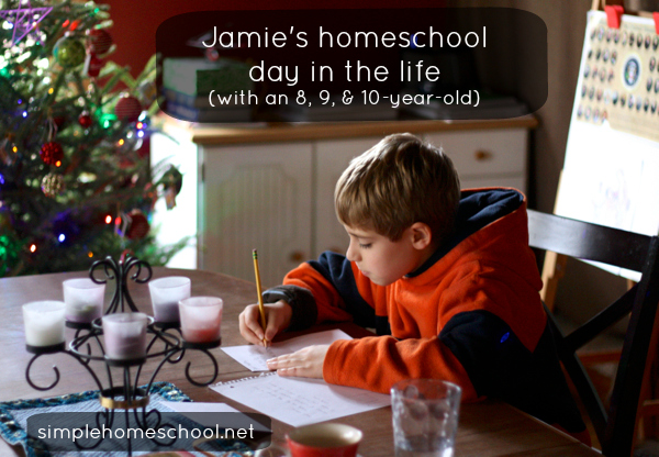 Jamie's homeschool day in the life (with an 8, 9, & 10-year-old) SH